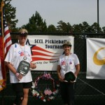Marlene Born and Judy Orme Silver Medalists SCCL Pickleball Tournament