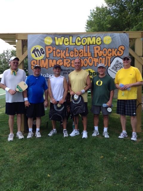 Men's 4.0 Pickleball Rocks Summer Shootout tournament medalists