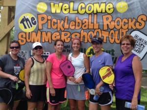 Ladies 4.0 Pickleball Rocks Summer Shootout Tournament winners