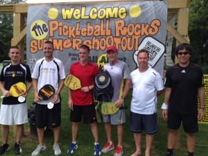 5.0 Men Medalists Pickleball Rocks Summer Shootout tournament